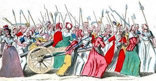 Revolution mit Marsch der Arbeiterinnen zur König und Königin in Versailles